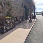 Bike parking along the side