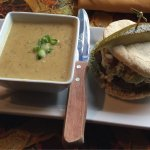 Falafel Burger With Daily Soup Side