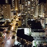 Night view of Waikiki from balcony