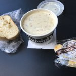 small size new england chowder with bread
