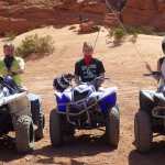 During the ATV portion of the tour.