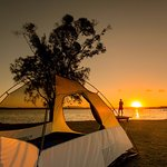 Waterfront camping at its best!