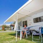 Grassy spacious caravan sites