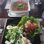 Red Curry Veg & Seafood Salad