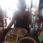 Yellow curry veg & Tom Yum Talay