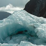 An example of the stunning ice formations on the Franz Josef glacier