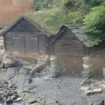 Старые рыбацкие сараи для лодок