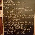 Saturday night - menu specials