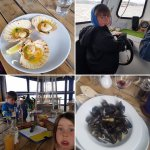 Boat driving, silly faces, beautiful scallops, amazing mussels