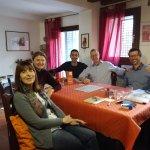 Gruppo Intermedio - marzo 2017 - Angela (UK), Vaenssa e Quentin (US), Sven (Ger) - grazie a tutt