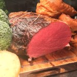 Delicious Edwards Of Conwy Beef ready for Sunday Service. Easter Bank Holiday. Sunday Roast avai