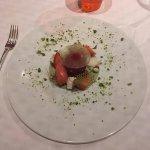 Dessert autour de la fraise et de la rhubarbe avec citron et yaourt