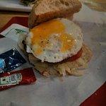 egg with mushroom burger