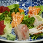 A plate of mixed sashimi