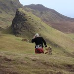 Windy day up on the Quiraing!