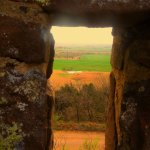 Flint Hills from the castle.