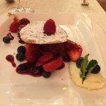 sorbet et fruits rouges