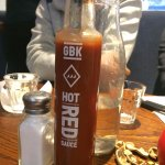 GBK Hot red sauce.
