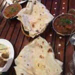 Roti and Chicken tikka masala