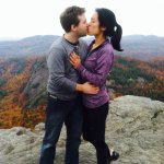 """Trey popped the ?,after climbing CHIMNEY TOP, Val said """"Yes"""" they celebrated at Canyon Kitchen"""