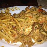 Seafood jambalaya.