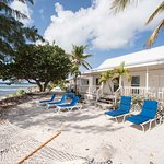Hammocks and sun loungers to relax on