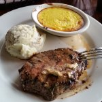 Pale Ale Steak with Mashed Potatoes and Corn Pudding
