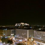 Acropolis from rooftop restaurant