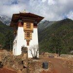 dzong being rebuilt