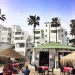 Garden bar overlooking the Mediterranean-menu still pricey