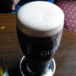 Creamy pint of Guinness