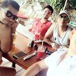 Amigos in Cafe Milagro paradise!