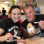 Me & my husband Russ enjoying our ice cream!