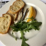 Anchovies and bruchetta. Very fresh and delicious!
