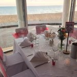 A perfect setting for a romantic wedding reception, with the beach just a few steps away.