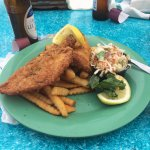 fish and fries with cole slaw