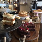 We love cake too so very excited to find the pretty bunting led to this yummy new place in Corfe