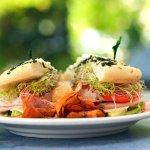 Turkey and Avocado Powerhouse on Spinach-Feta Focaccia