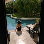 Enjoying our Jr. Swim Out Suite at Secrets Maroma