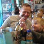 Bucket of beer & my grand sons