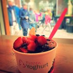 a Classic Special Froyo with strawberries, Oreos, Bounties and white chocolate sauce.