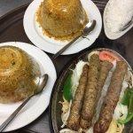 Beef Seekh Kabab and Biryani