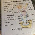 Thunderbird Restaurant - ho'made pie list