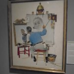 The triple portrait of Rockwell.