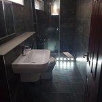 Bathroom (movement sensors on shower lights..)