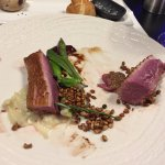 The delicious duck cooked to perfection..the crunchy buck wheat gave a fab smokey crunch to the