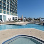 South tower newly renovated expansive pool deck
