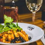 Penne All'Arrabiata is a deliciously simple Italian pasta dish with Sicilian olives and fresh ch