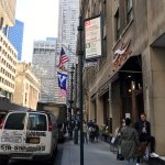 a view of the entrnce of Ammos Estiatorio towards the Yale Club of New York City