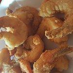 Fried jumbo shrimp.